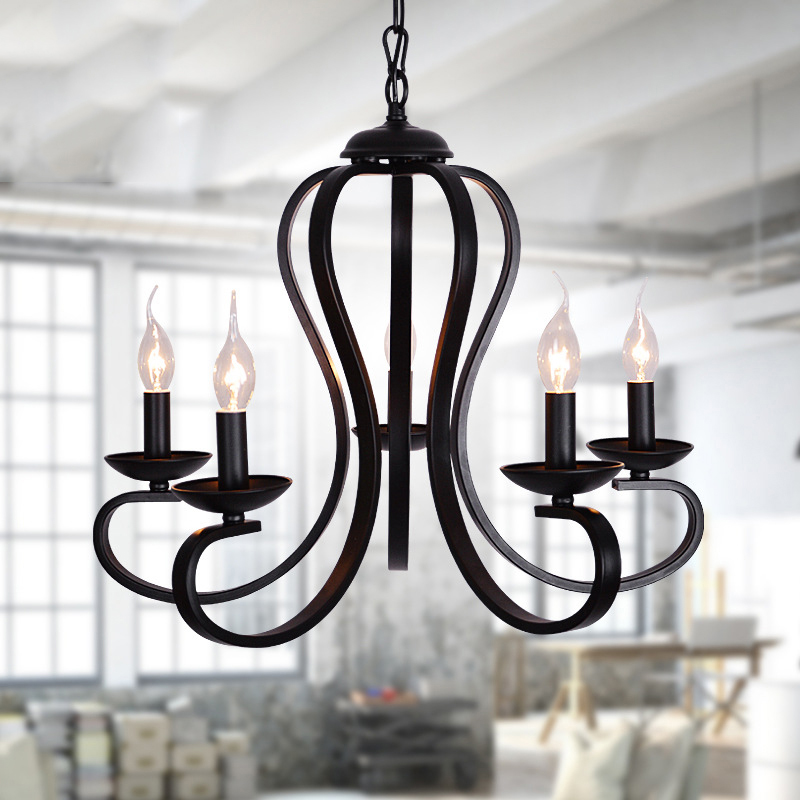 Vintage Black Wrought Iron Light Fixture: Aliexpress.com : Buy Modern Vintage Nordic Wrought Iron