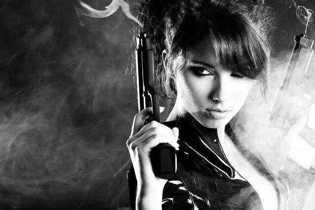 Sexy girls with gun, virginity vitali manski