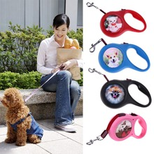 3 Meter Automatic Retractable Dog Leashes Outdoor Dog Traction Rope Leash ABS Large Handle Durable for Outdoor Walking Traveling