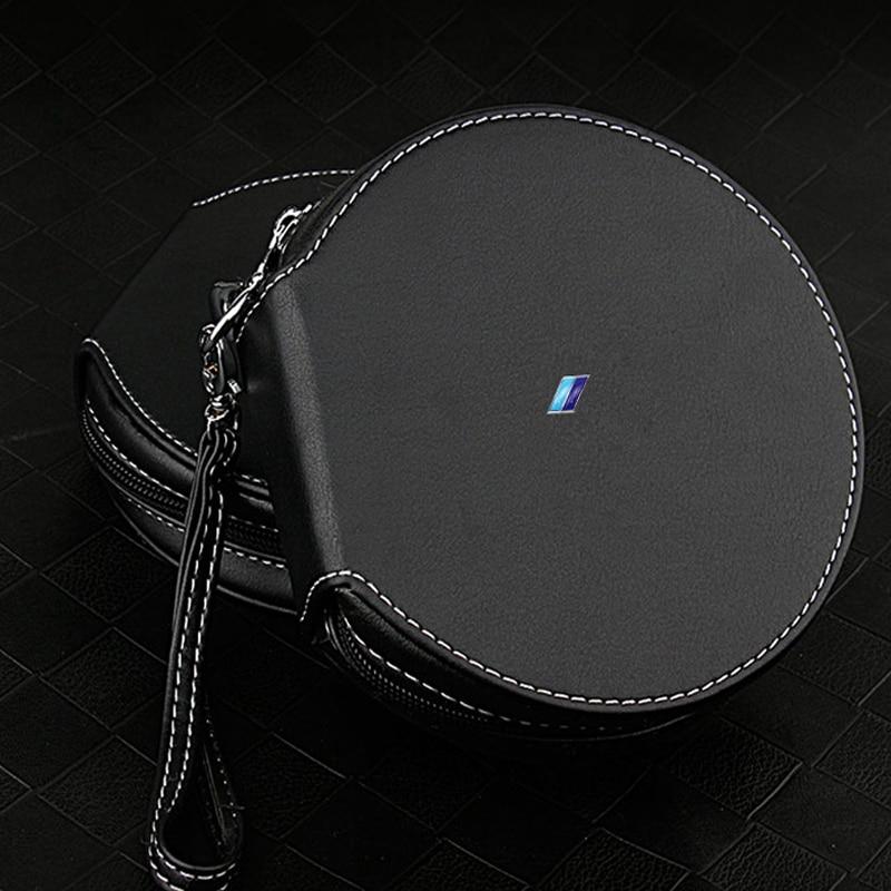 Car Leather DVD CD Storage Bag BOX 20 Disc Wallet Protector Organizer Case Holder for BMW M1 M3 M5 E46 E61 E91 E90