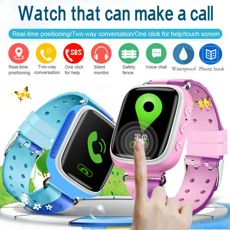 Q80 Kids Smart Watch GSM Smart Watch Phone SIM Call Touch Camera Games Alarm Anti-lost Smart Watch for Children's Gift 3E17