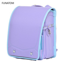 Children School Bag For Girls Kid Orthopedic Backpack Students Bookbags Japan PU Randoseru Baby Bags New