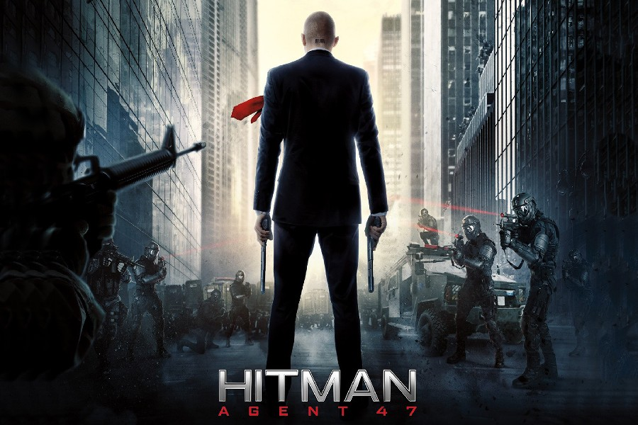 Qunexc Hitman Agent 47 Action Movie Poster Fabric Silk Poster