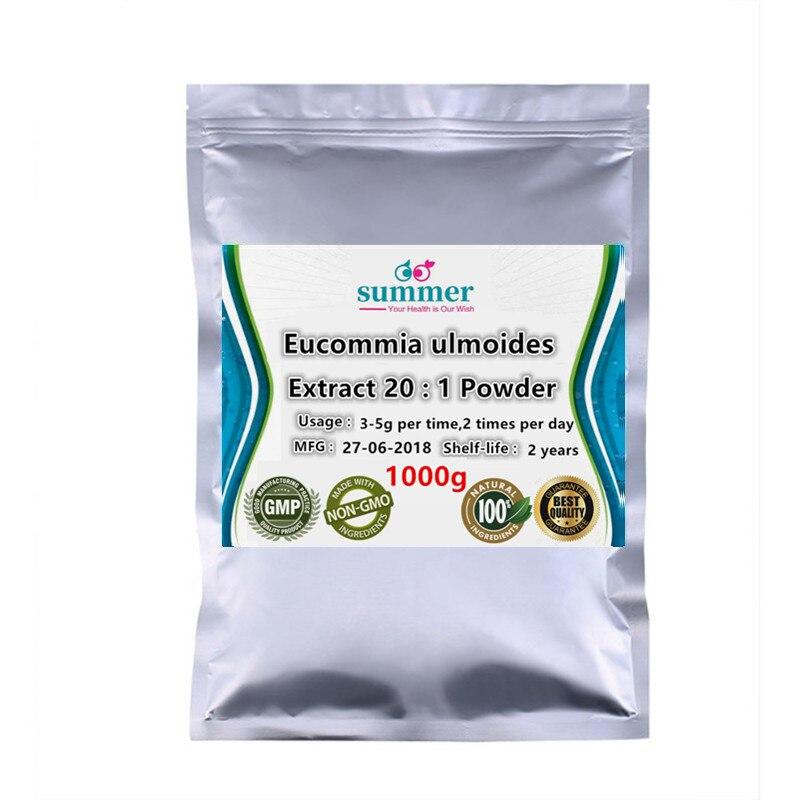 1000g Pure Eucommia ulmoides extract 20 1 Eucommia ulmoides Oliver tu chung extract for Anti tumor