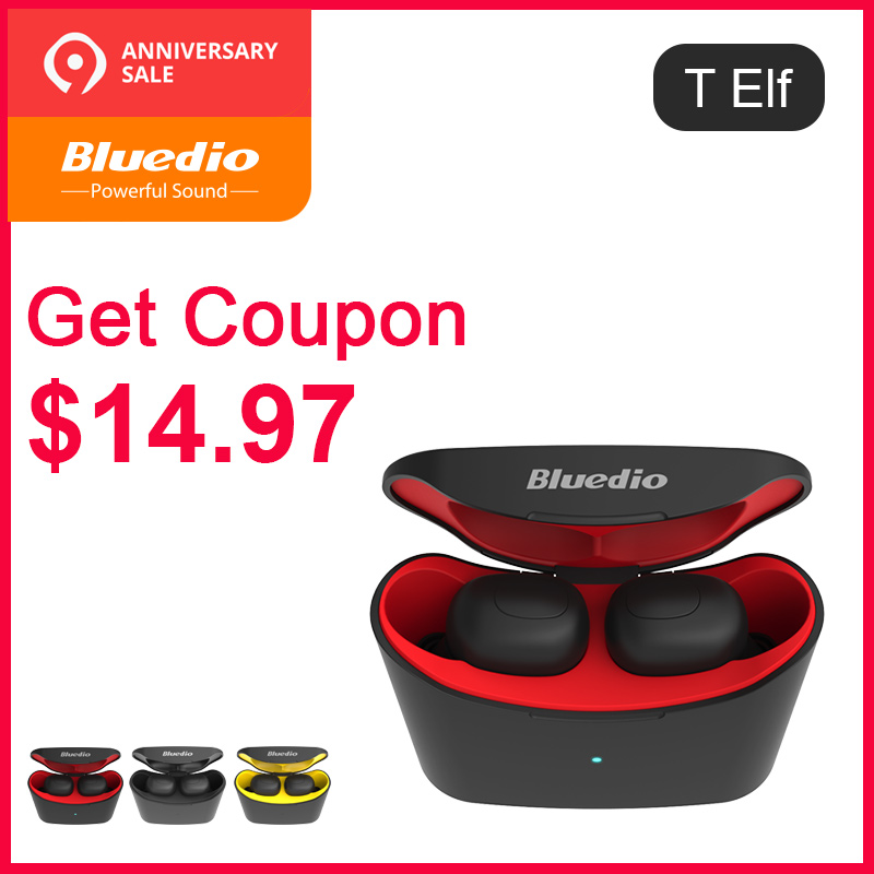 Bluedio T-elf mini Air pod Bluetooth 5.0 Sports True Wireless Earphone  with charging box (China)