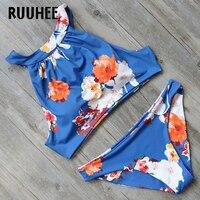 RUUHEE Halter Bikini Set 2017 Swimsuit Women Swimwear High Neck Bikini Push Up Bathing Suit Female