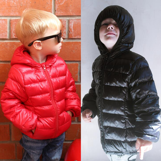 HH Spring/fall Light children's winter jackets Kids cotton Down Coat Baby jacket for girls parka Outerwear Hoodies Boy Coat