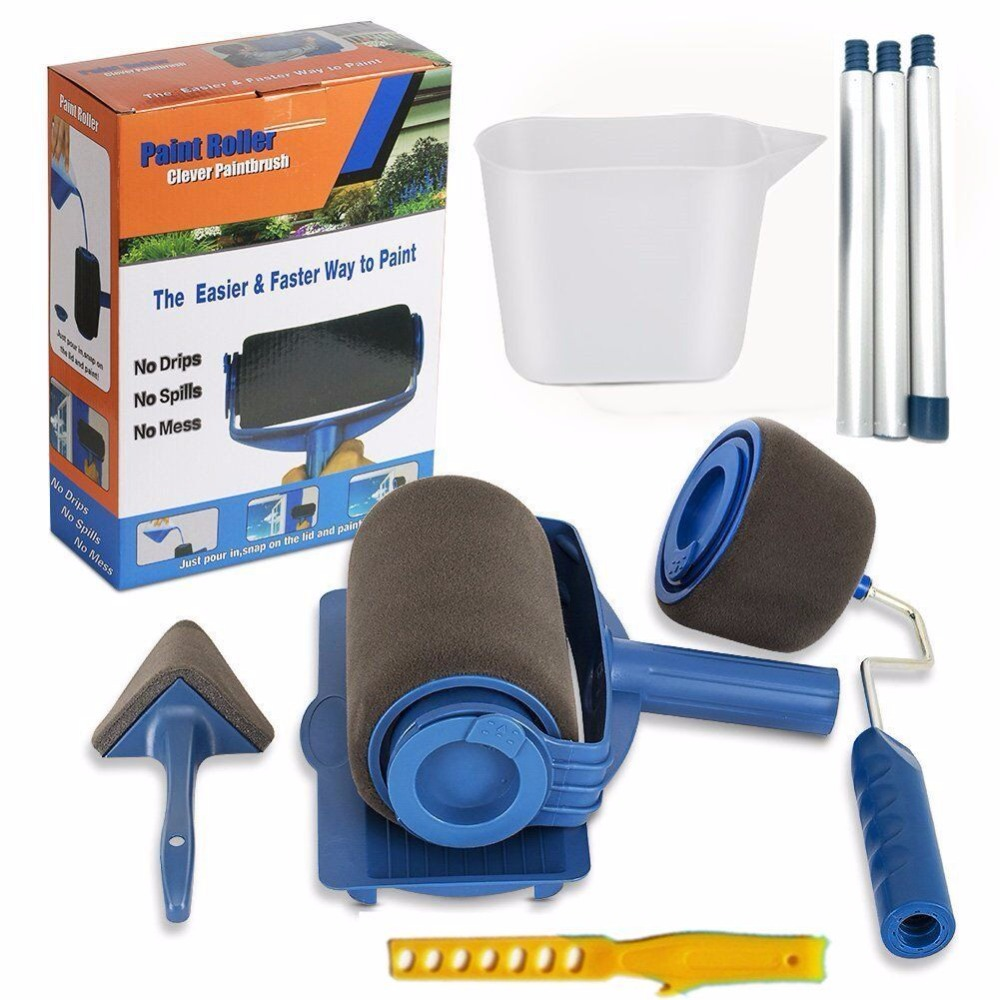 2set Lowest Price Paint Runner Roller Pro Rollers Wall Painting Kit Walls Brush Handle Tool Room Home Garden+extension Pole Tube