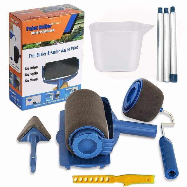 Us 32 98 42 Off 2set Lowest Price Paint Runner Roller Pro Rollers Wall Painting Kit Walls Brush Handle Tool Room Home Garden Extension Pole Tube In