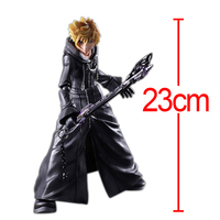 C&F Kingdom Hearts Anime Action Figure Toys 23 CM ROXAS SORA PVC Model Collectible Figures Toys For Boys' Gifts