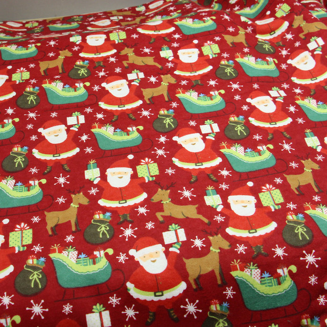 100x110cm christmas cotton fabric flannel fabric soft fleece cloth fabrics meter for baby bedding patchwork tilda
