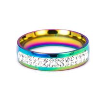 Gay Lesbian Pride Love Same Love Rainbow Flag Rings Lovers' Fashion Rings Couple Jewelry Gift(China)