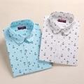 Nueva Moda Floral Blusas de Las Mujeres Camisa de Manga Larga de Algodón Camisas de Las Mujeres Casual de Las Señoras Tops de Impresión Camisas Blusa Más El Tamaño 5XL
