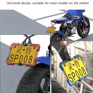 Image 5 - Evrensel alüminyum alaşım motosiklet plaka tutucu numarası braketi çerçeve elektrikli araç için 3 renk
