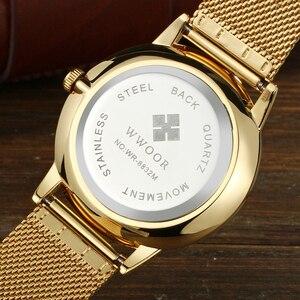 Image 4 - 2019 WWOOR Relogio Masculino หรูหราเต็มรูปแบบสแตนเลสชายนาฬิกาผู้ชายนาฬิกาข้อมือ Zegarki Meskie