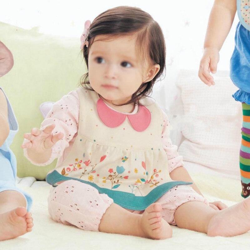 1 Pc Nieuwe Patroon Baby Meisje Puur Katoen Bib Schort Baby Snap Verstelbare Speeksel Handdoek Eten Pocket Fancy Schort Meer Kortingen Verrassingen