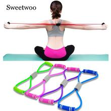 2019 Hot Yoga Gum Fitness Resistance 8 Word Chest Expander Rope Workout Muscle Rubber Elastic Bands For Sports Exercise