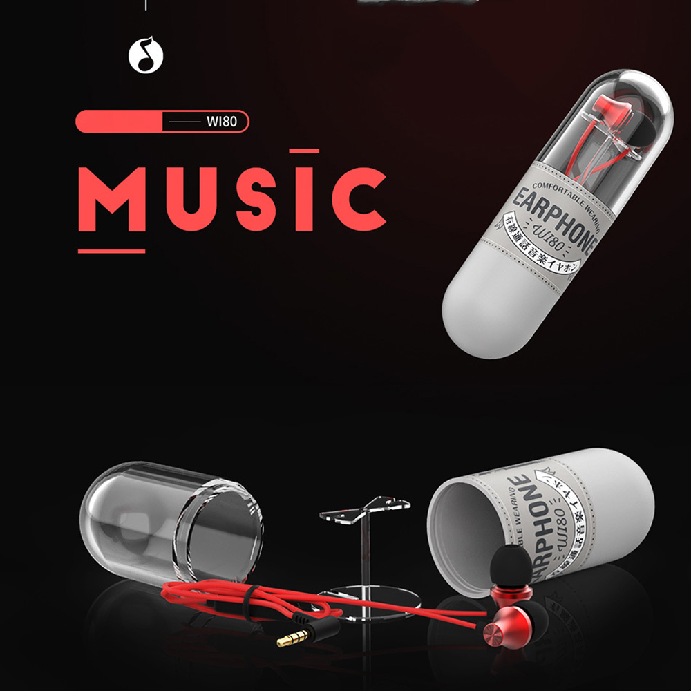 WK Fone De Ouvido Earbuds Wired Headphone High Bass Pattern Metal Earphone Music Headset With HD Mic Stereo Kulaklik for Xiaomi