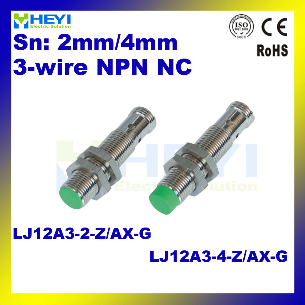 M12 3 Wire Nc Metal Sensor 4 Pin Inductive Proximity Lj12a3 2 Reed Switch Wiring Diagram Z Ax G Without Cable In Switches From Lights Lighting On
