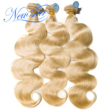 New Star Brazilian #613 Body Wave 3 Bundles Platinum Blonde Remy Hair Weave Free Shipping 100% Intact Cuticle Human Hair Weaving(China)