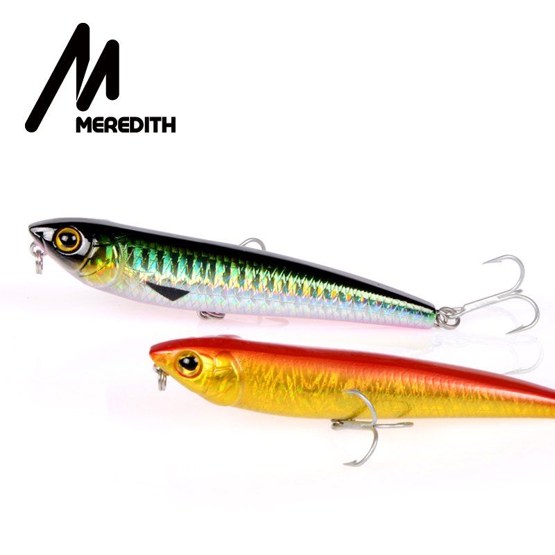 MEREDITH 1kpl Combat Pencil Fishing Lures 8.8CM 8.8G wobblerit Koukut Kala lyijykynä Lure Tackle Hard Bait Keinotekoinen karpkala