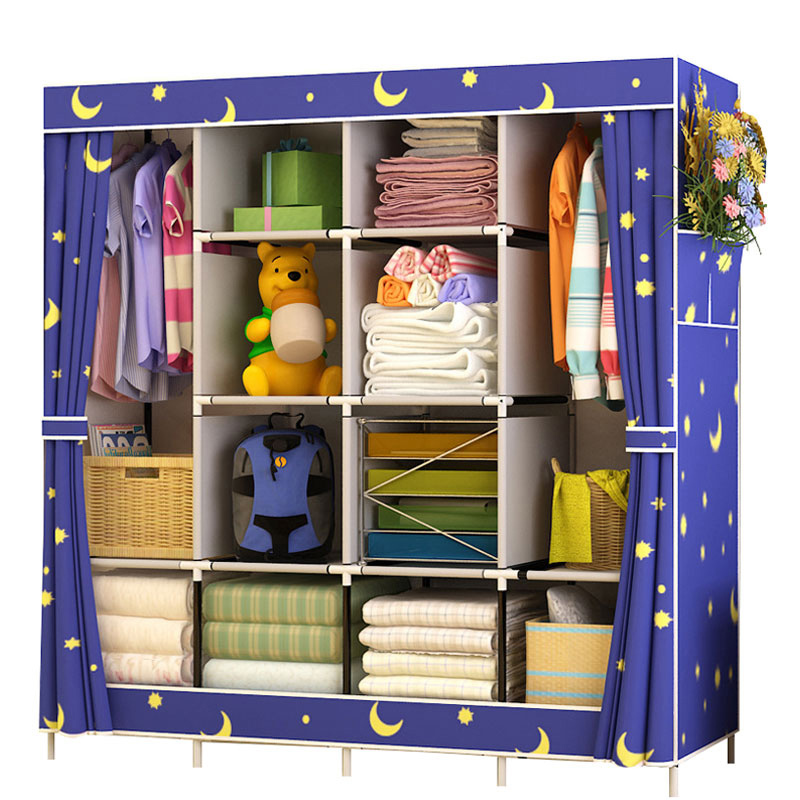 Modern Assembled Wardrobe Household Cloth Folding Wardrobe Storage Closet Large Reinforced Combination Wardrobe CabinetModern Assembled Wardrobe Household Cloth Folding Wardrobe Storage Closet Large Reinforced Combination Wardrobe Cabinet