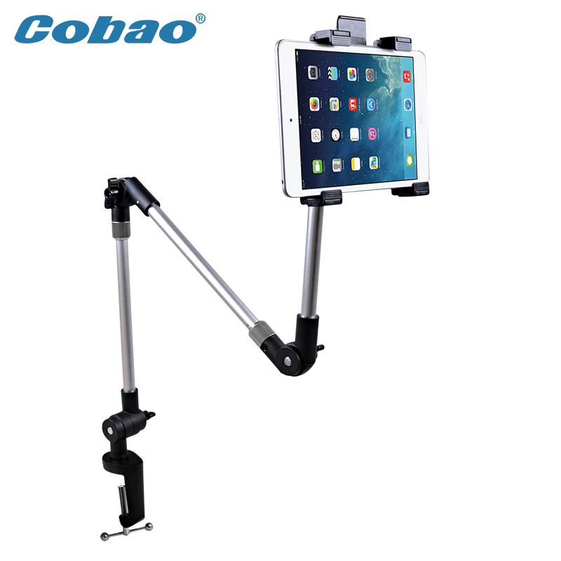 universal metal aluminum wall mount tablet pc floor stand 7 8 9 10 11 inch high - Tablet Wall Mount