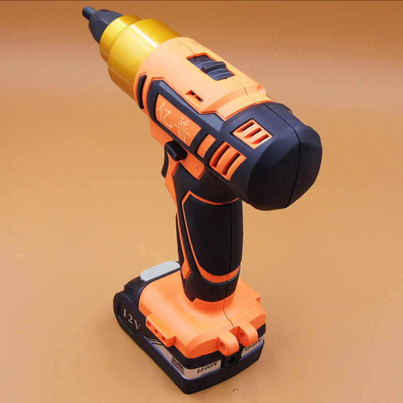 High Quality Rechargeable Riveting Nut Gun 12V Lithium Battery Nut Gun Electric Riveting Nut Tool