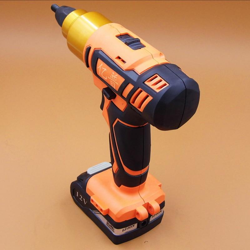 High Quality Rechargeable Riveting Nut Gun 12V Lithium Battery Nut Gun Electric Riveting Nut Tool