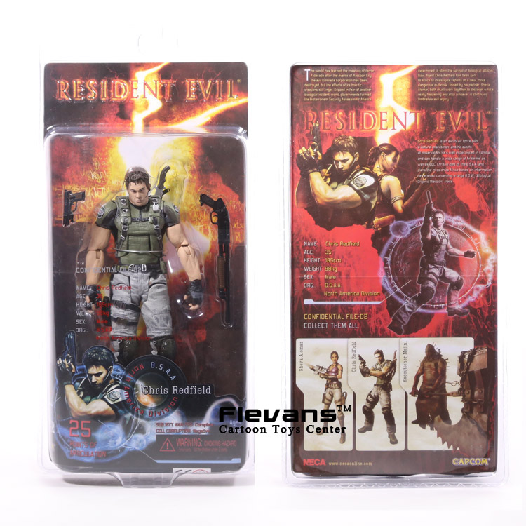 NECA Resident Evil 5 Chris Redfield PVC Action Figure Collectible Model Toy 7 18cm neca the evil dead ash vs evil dead ash williams eligos pvc action figure collectible model toy 18cm kt3427