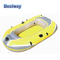 61064 Bestway 2.28mx1.21m(90*48) Inflatable Fishing Boat/3 person Plastic Canoeing/Assault Boat/Rubber Boat for 3 people/Kayak