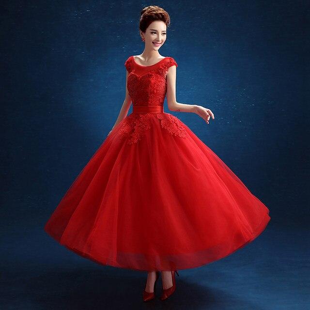 Online Shop Vintage Lace Short Wedding Dresses Plus Size Robe De ...
