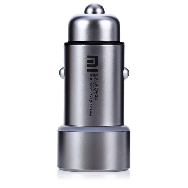100% Original Xiaomi MI Car Charger Metal Appearance Dual USB Output Quick Charge + USB For Tablets For iPhone free shipping