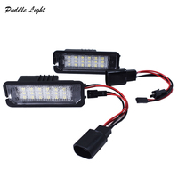 canbus שגיאה חינם 2X 18SMD CANbus שגיאה חינם לבן LED מספר רישיון פלייט אורות מושב Altea Exeo איביזה לאון מעולה Auto Lighting (3)