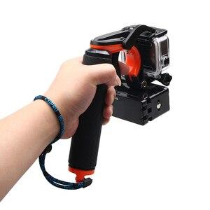 Image 5 - Tekcam Stabilisator Abschnitt Pistole Trigger Set Schwimm Griff Handheld Monopod Für Gopro hero 5/6/7 Gopro Hero 5 Hero 6 Zubehör