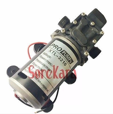 T-YD DC 12V 100W Self-priming Booster Diaphragm Water Pump Automatic Pressure Switch 300L/H For Car washing booster pump 12v dc boat accessory high pressure diaphragm water self priming pump l70323 drop ship