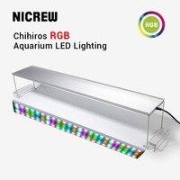 NICREW Chihiros RGB аквариумный светодиодный фонарь полный спектр освещения для водных растений Яркость Регулируемый жилет для 30 см до 80 см Tank