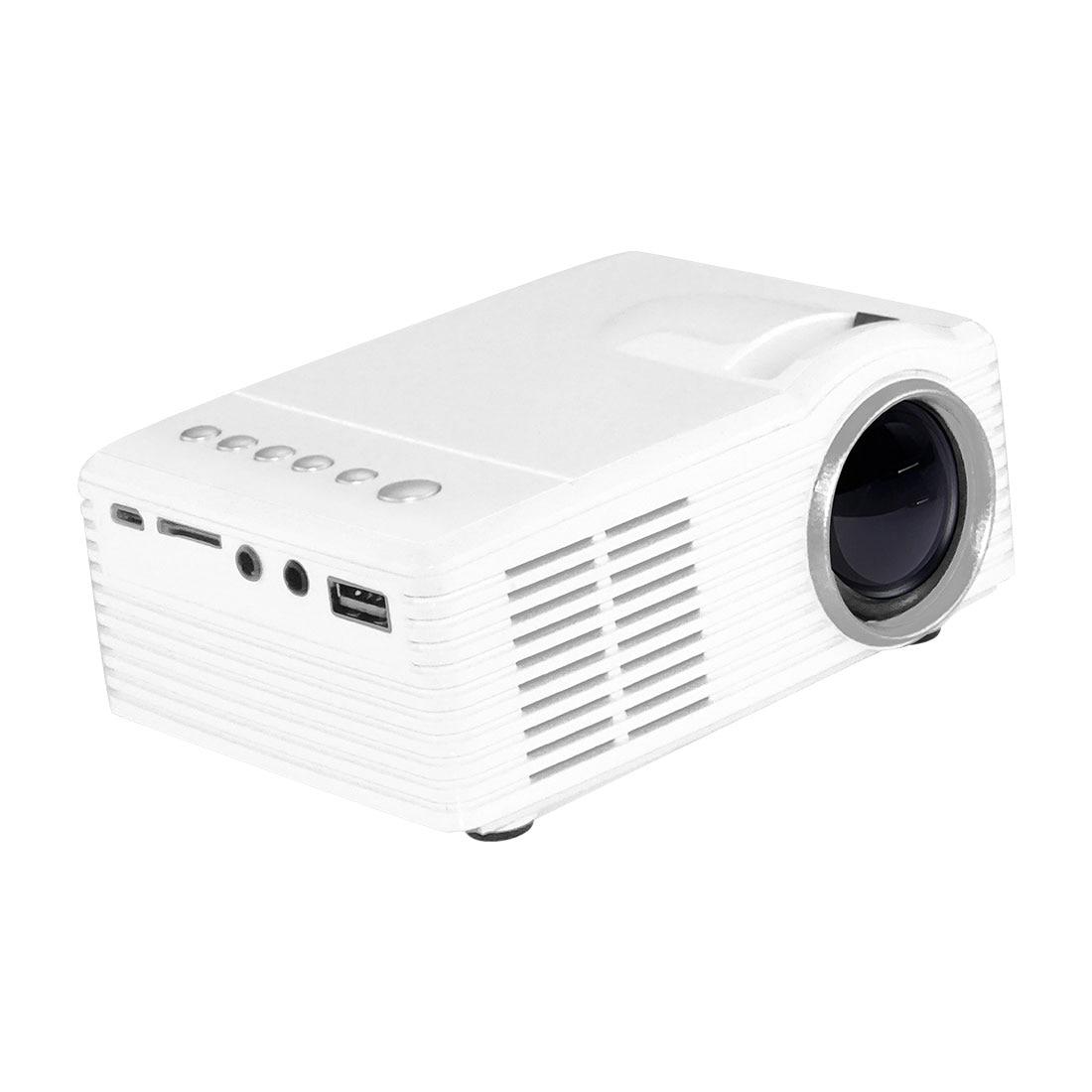 centechia White MG300 Portable LCD Projector 3.5mm Audio 320x240 Pixel HDMI USB Mini MG300 Projector Home Media Player EU Plug
