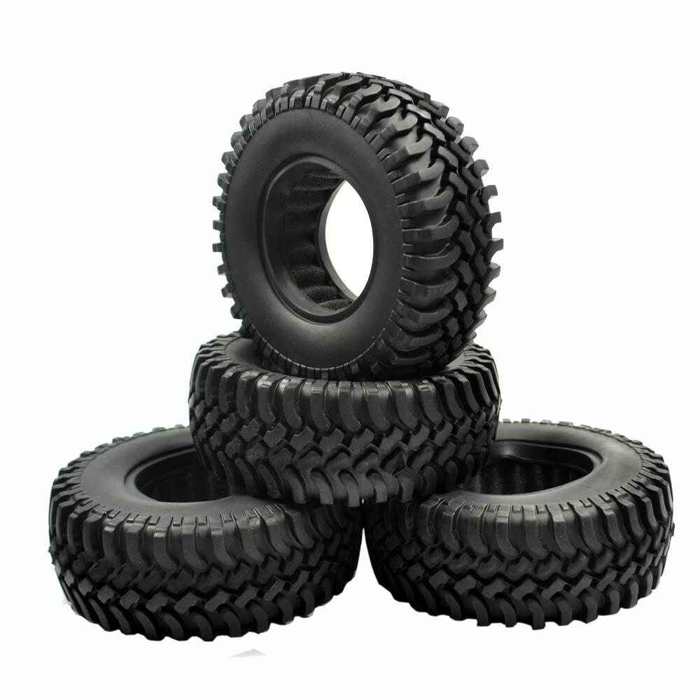 4 piezas 100mm Rock Crawler neumáticos para 1/10 RC Off-Road coche RC4WD D90 D110 AXIAL SCX10 1,9 pulgadas llanta