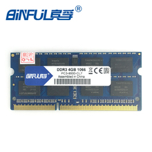Оригинал binful pc3-8500 DDR3 2 Г 1066 МГЦ 4 Г 1066 МГЦ so-dimm ddr3 1066 мГц ram 4 ГБ для Ноутбуков ПАМЯТИ sdram памяти ноутбука
