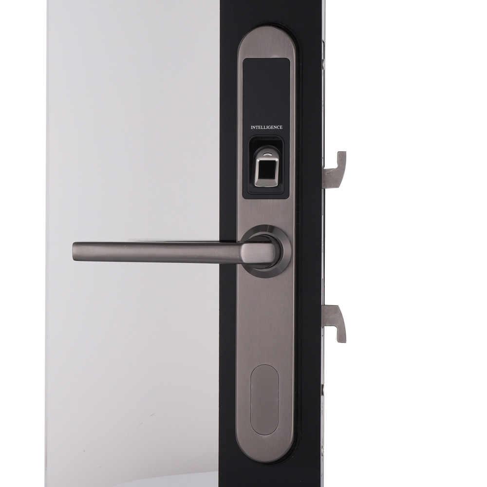 Tahan Air Sliding Gate Kunci Sidik Jari Digital Kunci Pintu Elektronik, Kunci Pintu Di 304 Stainless Steel