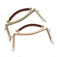 Large DIY Handmade Party Bag Handle Buckle Metal Frame Kiss Clasp Lock Handle Arch 21CM Bag Accessories Sewing