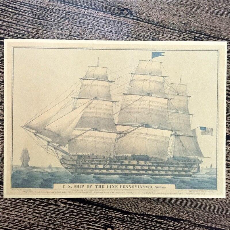 "Direct Selling RZJ 050 Vintage Home Decor Kraft Paper ""USA"