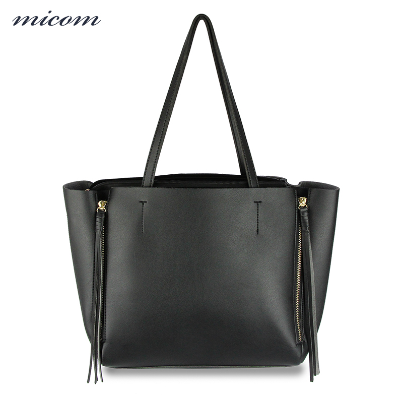 MiCOM Luxury Handbags Women Bags Designer High Quality Leather Tote Bag Fashion Ladies Tassel Hand Bags Retro Style Shoulder Bag