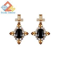 Fashion Earrings  / Mixing Glass Green Zinc Alloy Earrings Earrings Factory Direct Earrings for Women