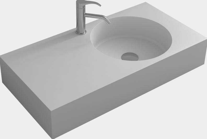 fregadero del recipiente de bao rectangular pared colgaba corain mate piedra superficie slida lavabo rsb