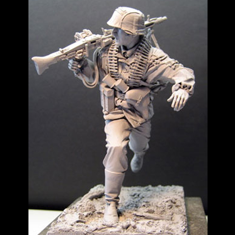 1/16 Resin Figure Soldiers Wwii Normandy War 140G