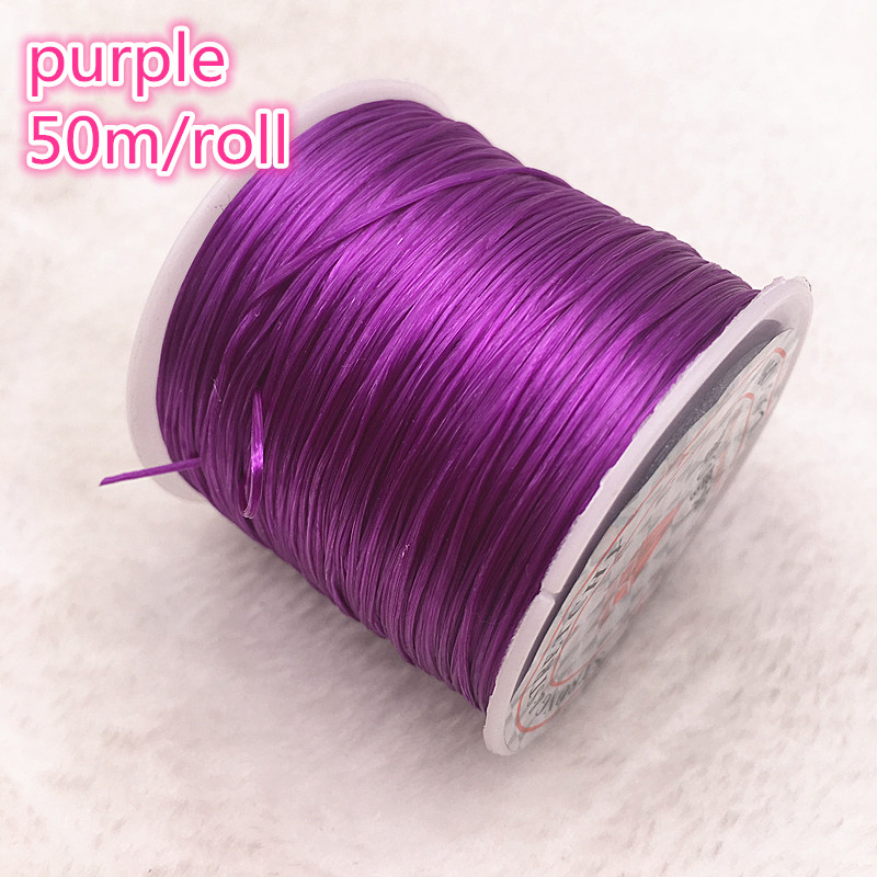 50M/Roll Purple Flexible Elastic Crystal Line Rope Cord For Jewelry Making Beading Bracelet Wire Fishing Thread Rope #10