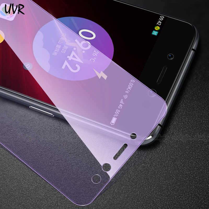 UVR アンチブルー強化ガラス三星銀河 A7 2018 A6 A8 プラス J2 J6 J7 J8 2018 抗ブルースクリーンプロテクター J5 首相 S7 S6