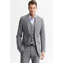 mens suits fashion 2017 custom made suit light gray custom made suit 3 piece tuxedo for wedding